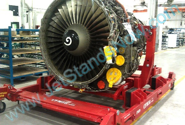 Pratt & Whitney CFM56-5 Commercial Jet Engine Shipping Stand (red)